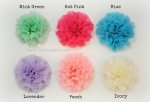 Frayed Chiffon Flower Puffs